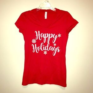 Happy Holidays Graphic Tee Shirt
